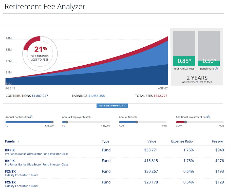 Personal Capital - Fee Analyzer
