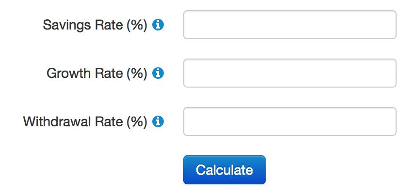 Savings Rate FI Calculator
