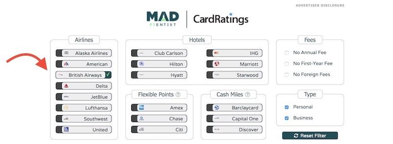 BA Card Filter