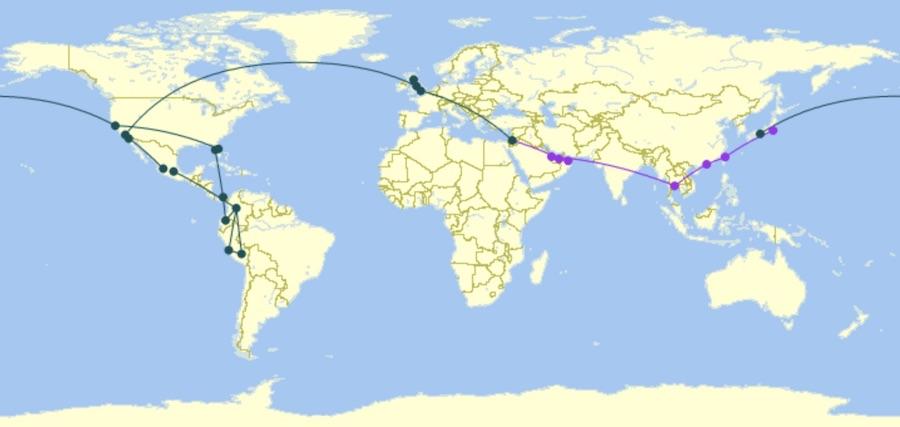 Around-the-World Itinerary