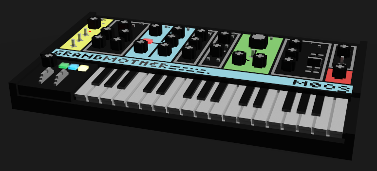 Moog Grandmother 3D Pixel Art